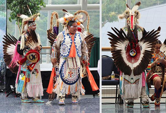 Eagle feather bustle regalia