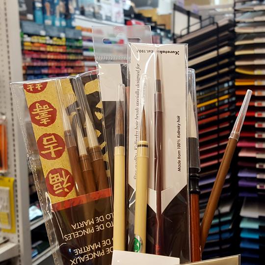 Asian brushes