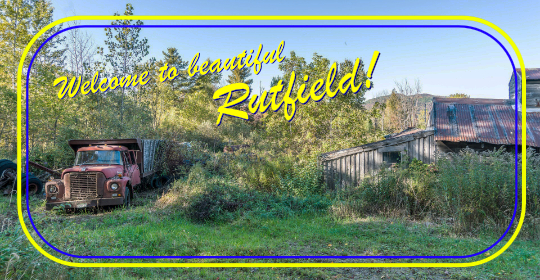 Welcome to Rutfield postcard